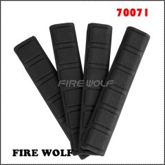 70071FIRE WOLF 4 pieces Tactical KeyMod Rubber soft Rail Cover type black DE